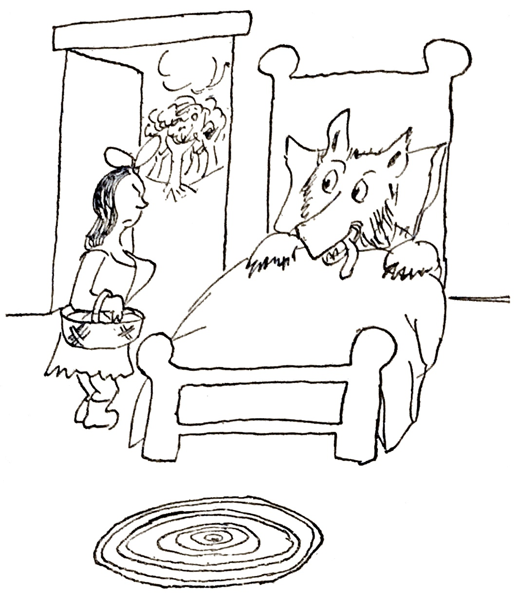 james thurber the little girl and the wolf